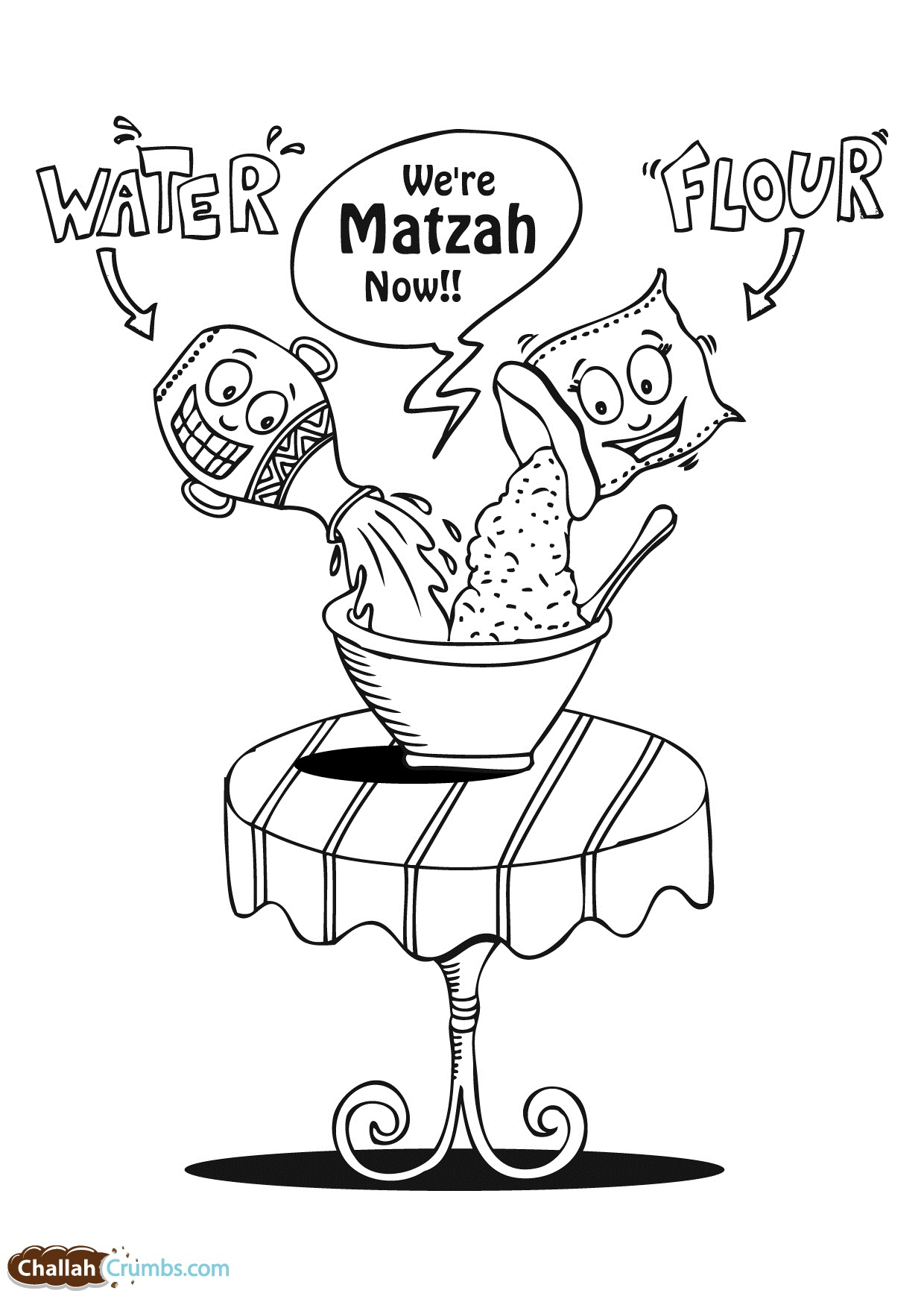 printable passover dinner coloring pages - photo#29