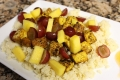 Curried Tofu Fruited Couscous