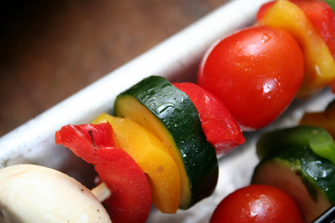 Skewered Vegetables. How To Perfectly Grill Your Veggies.