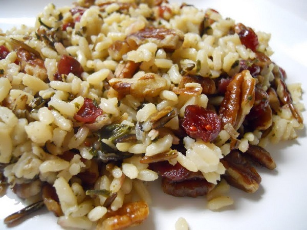 Toasted Pecan Cranberry Wild Rice - Challah Crumbs