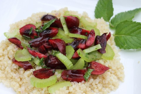 Summer Cherry-Mint Quinoa Salad