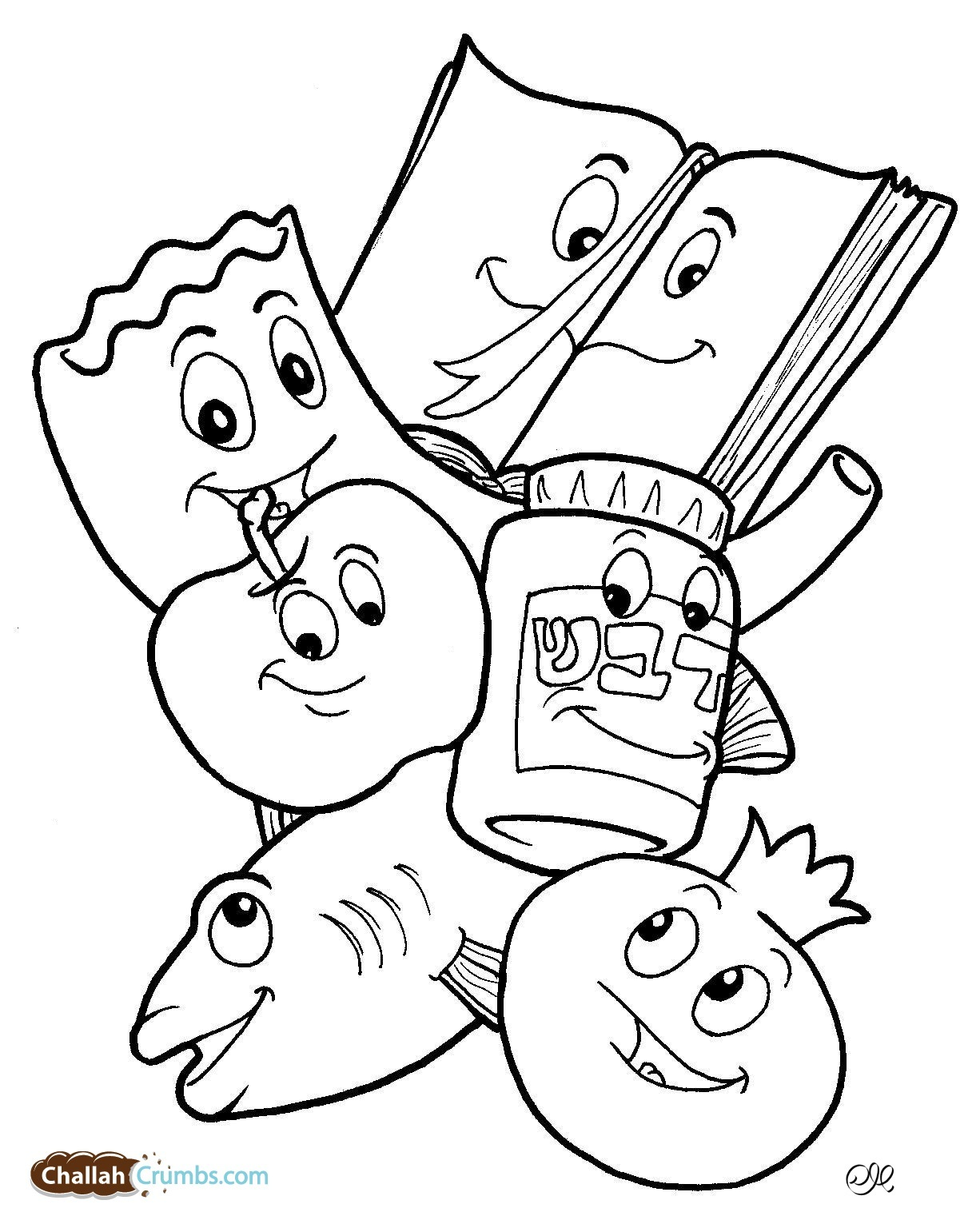 challah coloring pages - photo#13