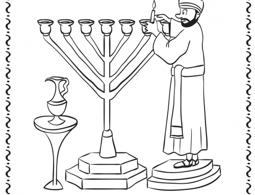 Coloring Page: Parshat Beha'alotcha (Click on drawing to print)