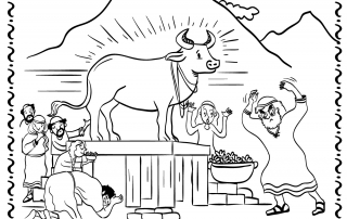 Aleph bet coloring pages coloring coloring pages for The golden calf coloring page